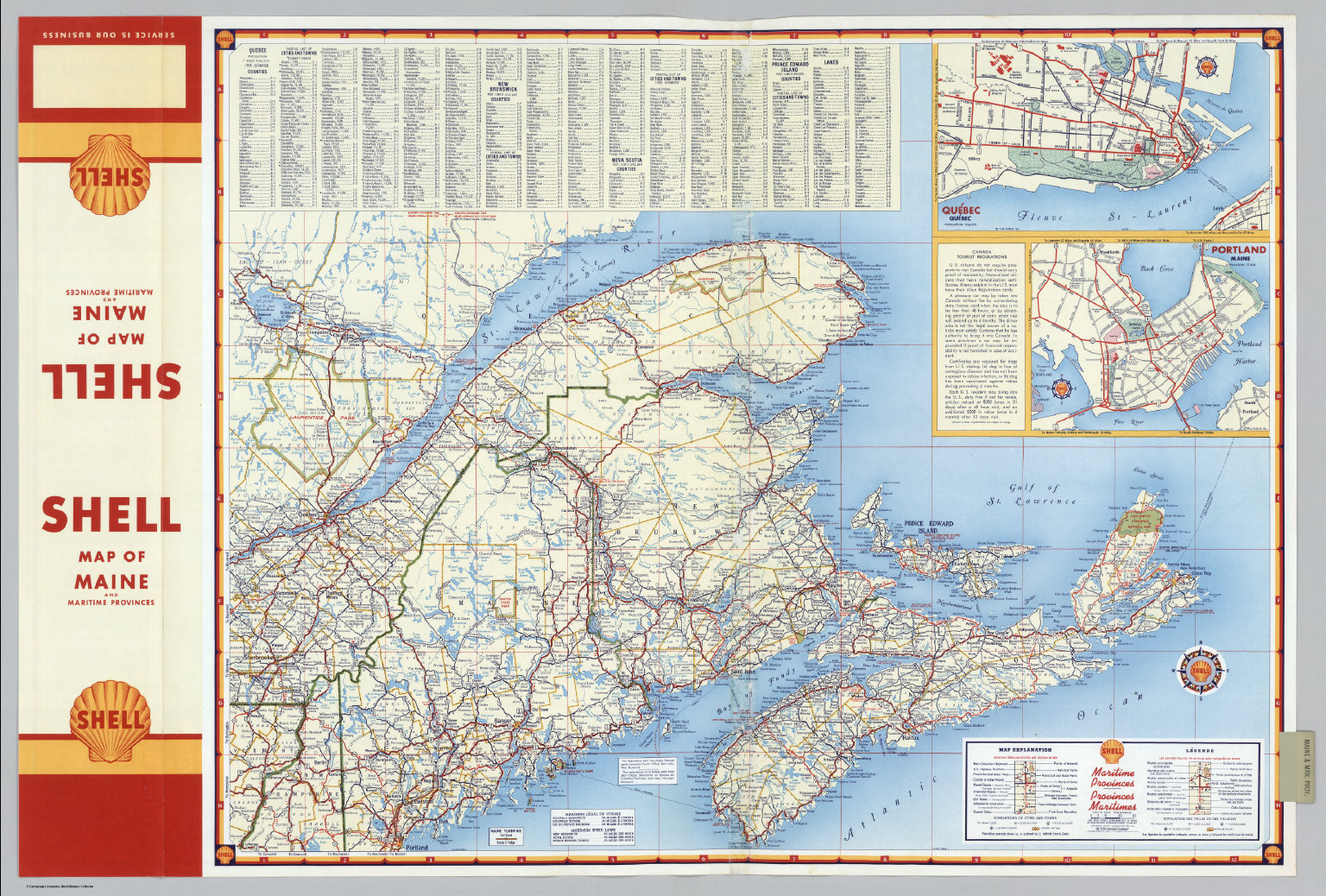 Various Regions and Cities in and around Maine including Canadian ...