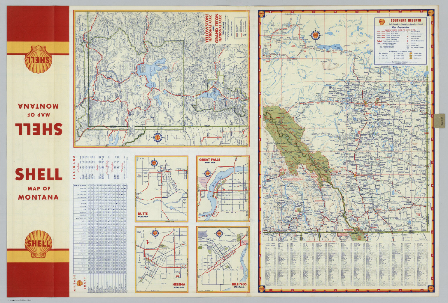Various Regions and Cities in Montana and Alberta David Rumsey