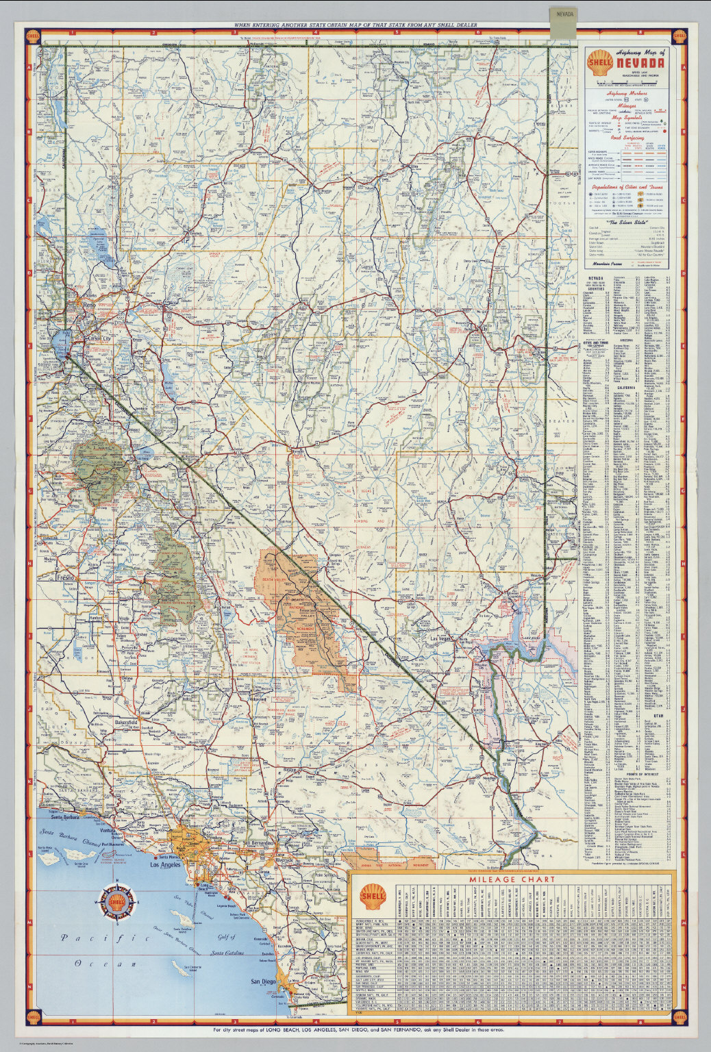 Shell Highway Map of Nevada David Rumsey Historical Map Collection