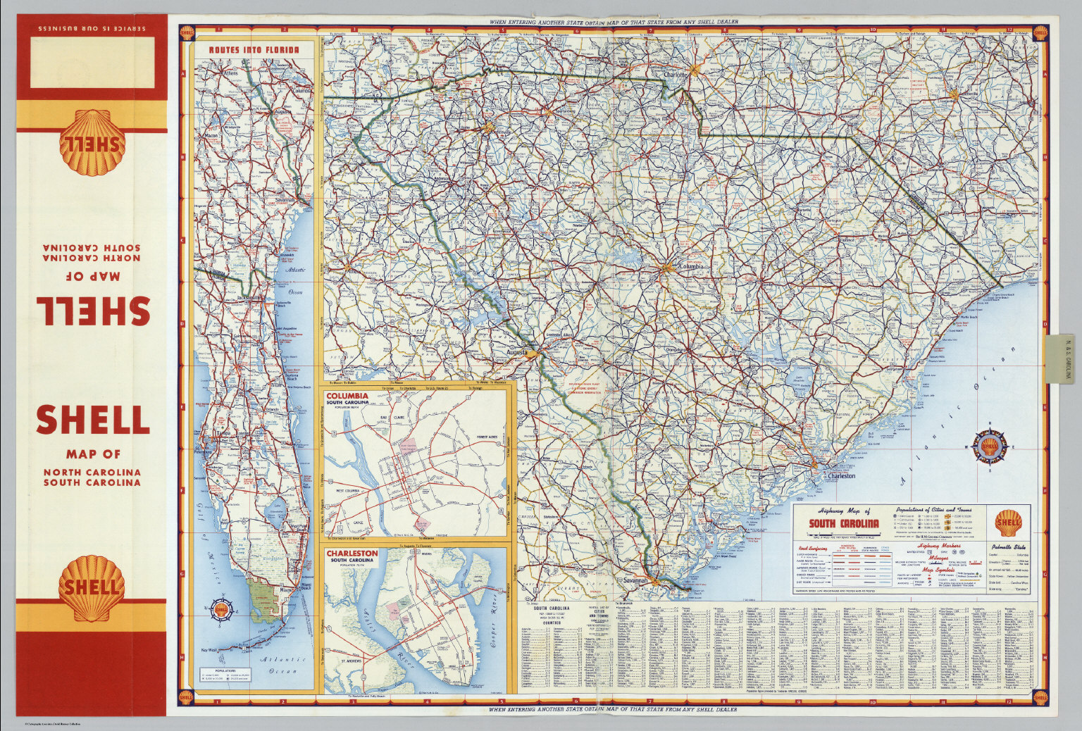 Shell Highway Map of South Carolina David Rumsey Historical Map