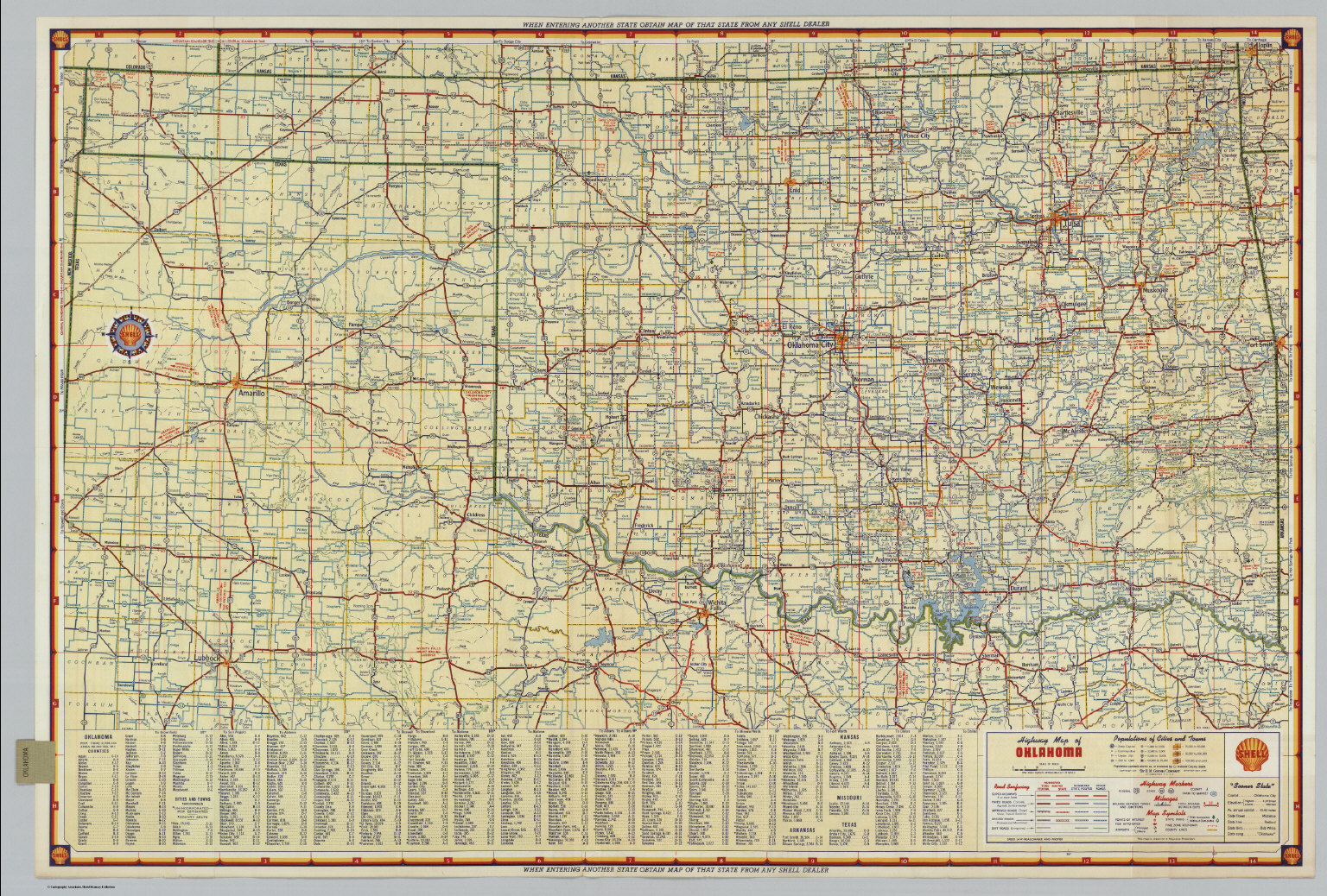 Shell Highway Map of Oklahoma David Rumsey Historical Map Collection