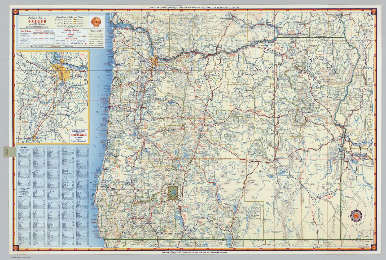 graphic about Printable Map of Oregon known as S Road Map of Oregon. - David Rumsey Ancient Map