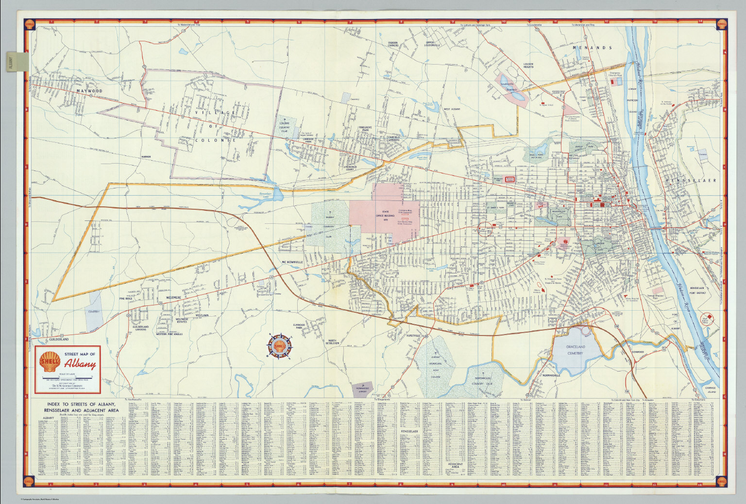 albany new york map image collections