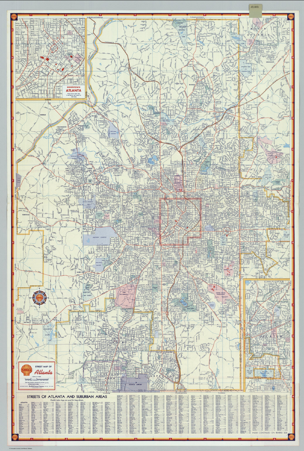 Atlanta (Georgia). - David Rumsey Historical Map Collection