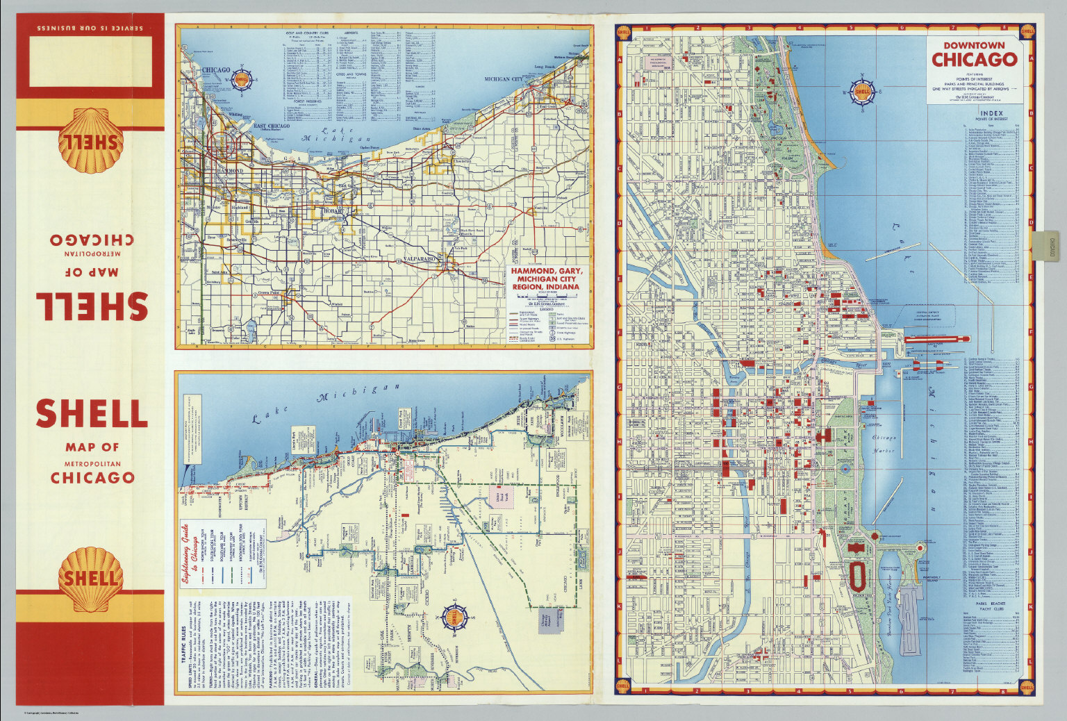 Michigan And Indiana Map.Downtown Chicago Hammond Gary Michigan City Region Indiana