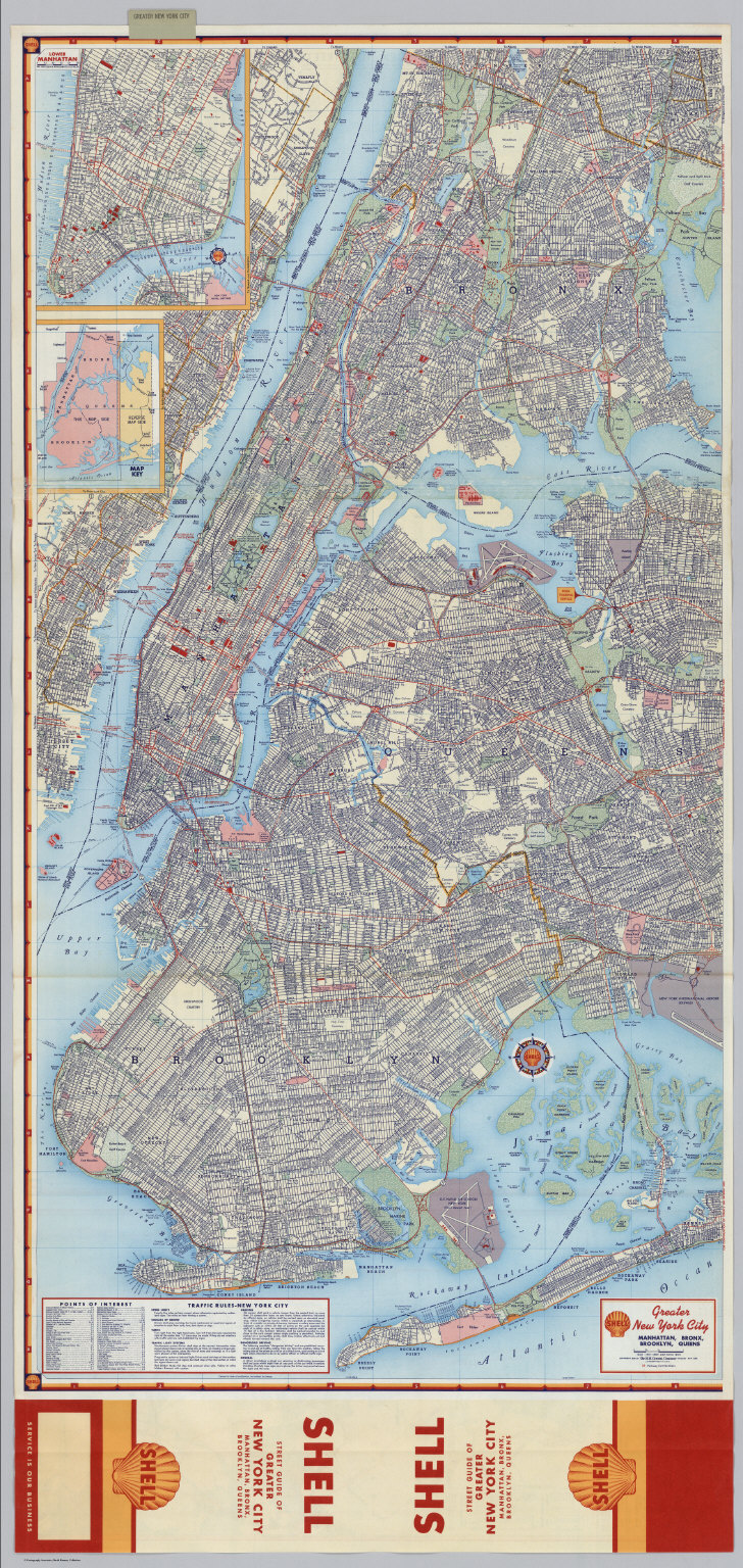 Map Of Greater New York City Area.Shell Greater New York City Eastern Section To And Through