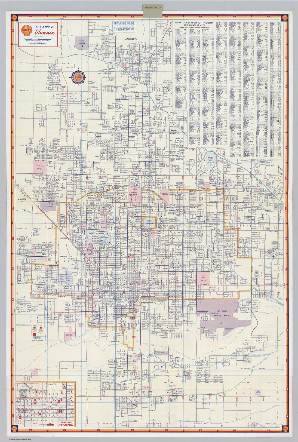 Shell Street Map of Phoenix David Rumsey Historical Map Collection