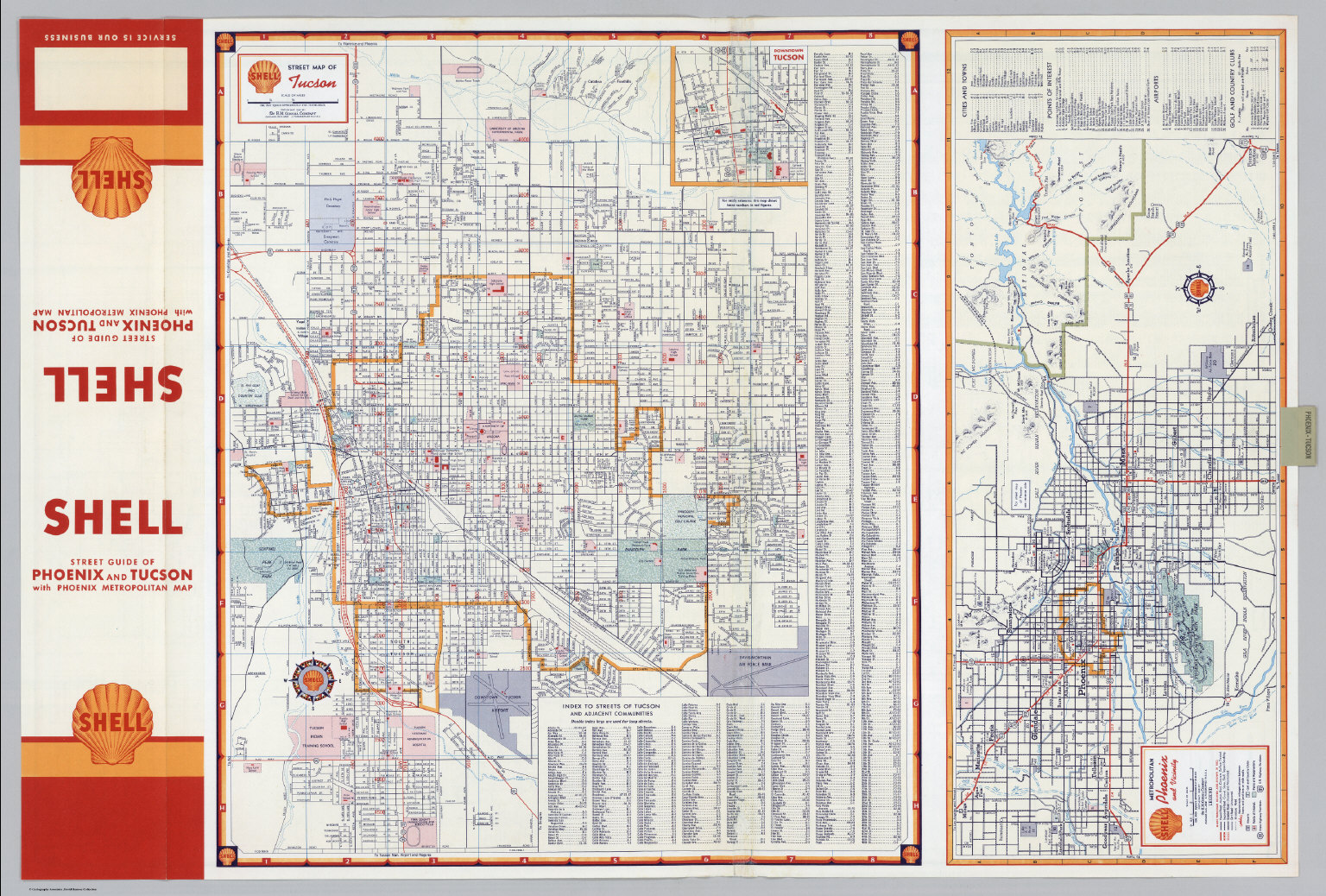 Shell Street Map of Tucson Shell Metropolitan Phoenix and Vicinity