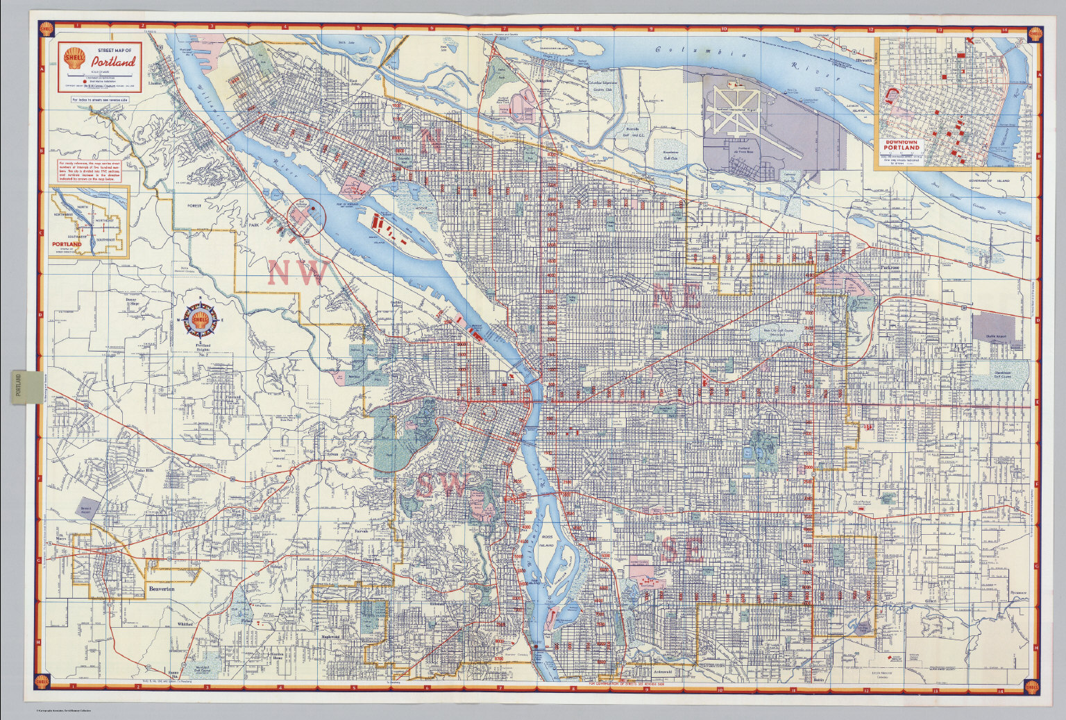Shell Street Map Of Portland David Rumsey Historical Map