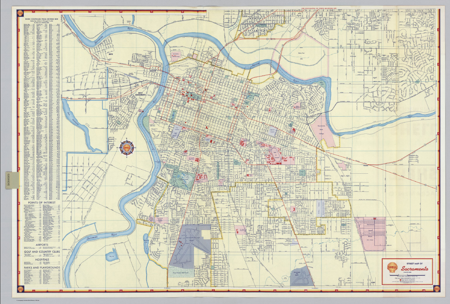 Map Of Sacramento Shell Street Map of Sacramento.   David Rumsey Historical Map  Map Of Sacramento