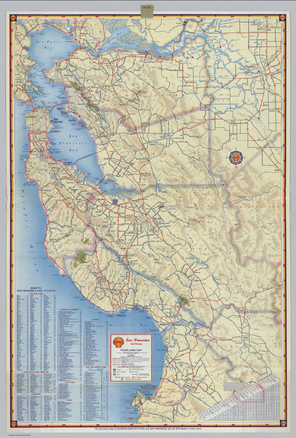 Shell Street Map of San Jose and Vicinity David Rumsey Historical
