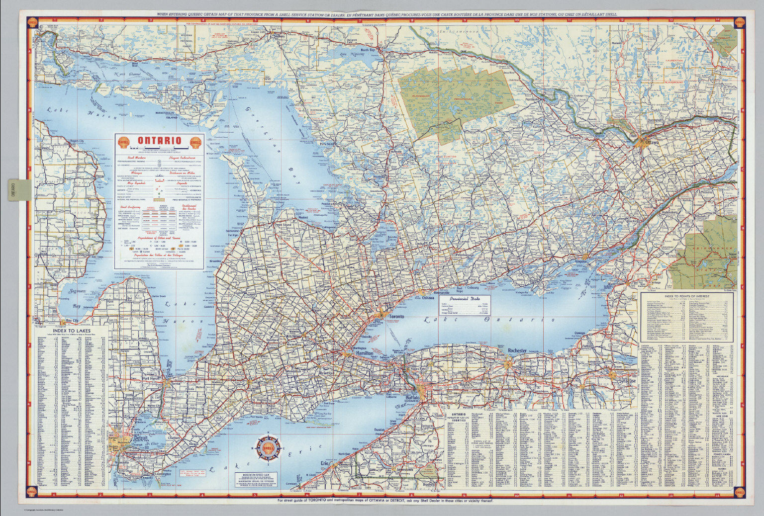 Shell Ontario Canada David Rumsey Historical Map Collection