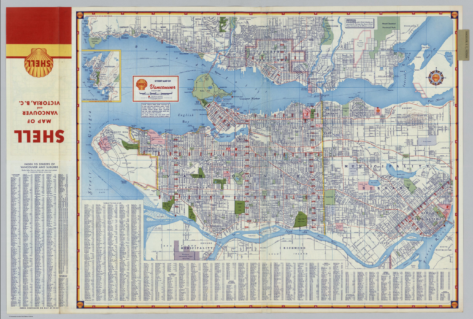 Shell Street Map of Vancouver David Rumsey Historical Map Collection