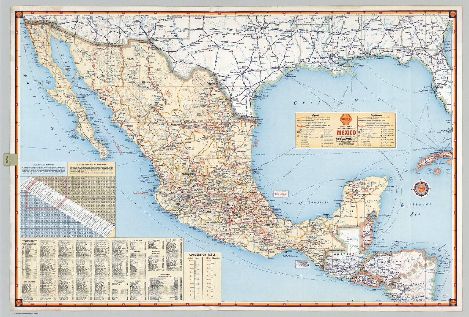 Shell Highway Map of Mexico David Rumsey Historical Map Collection