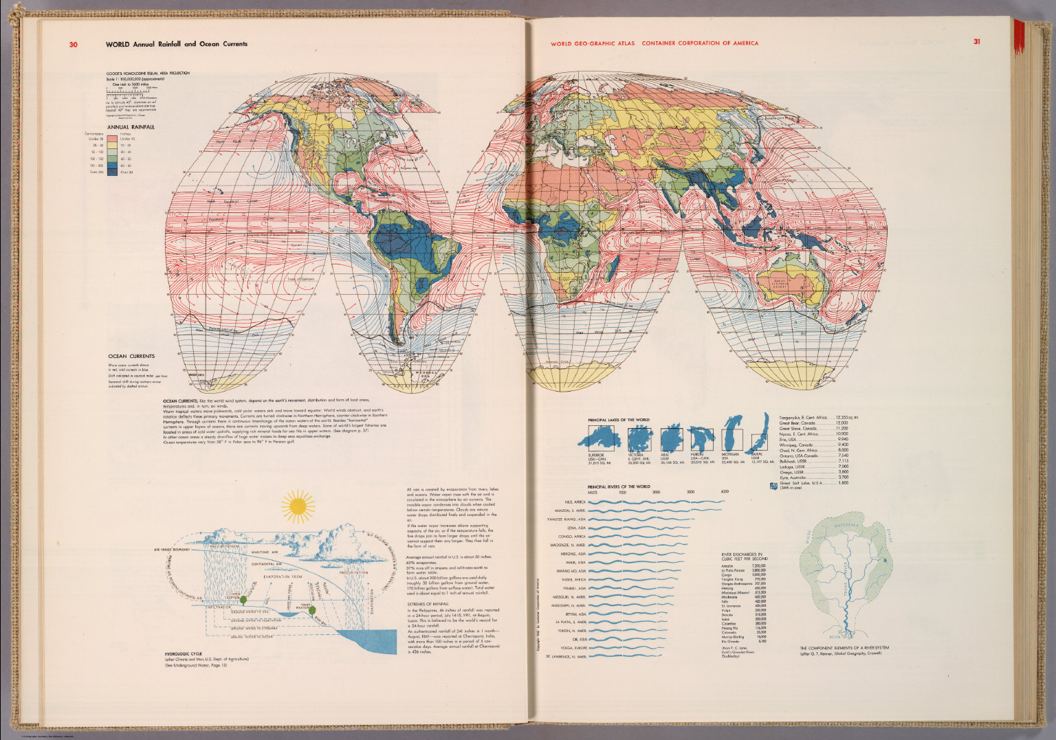 World annual rainfall and ocean currents david rumsey historical world annual rainfall and ocean currents gumiabroncs Choice Image