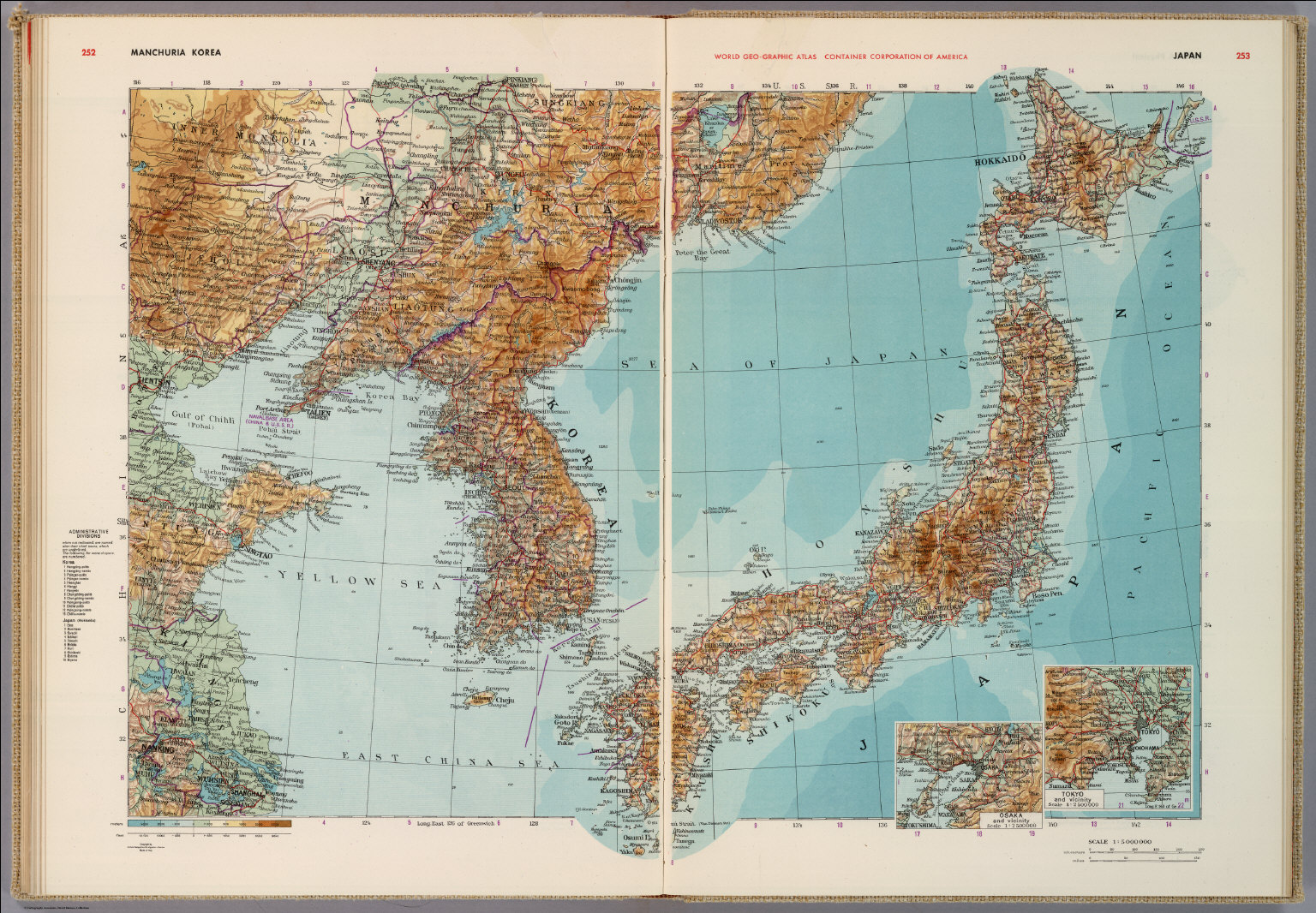 Manchuria Korea Japan David Rumsey Historical Map Collection