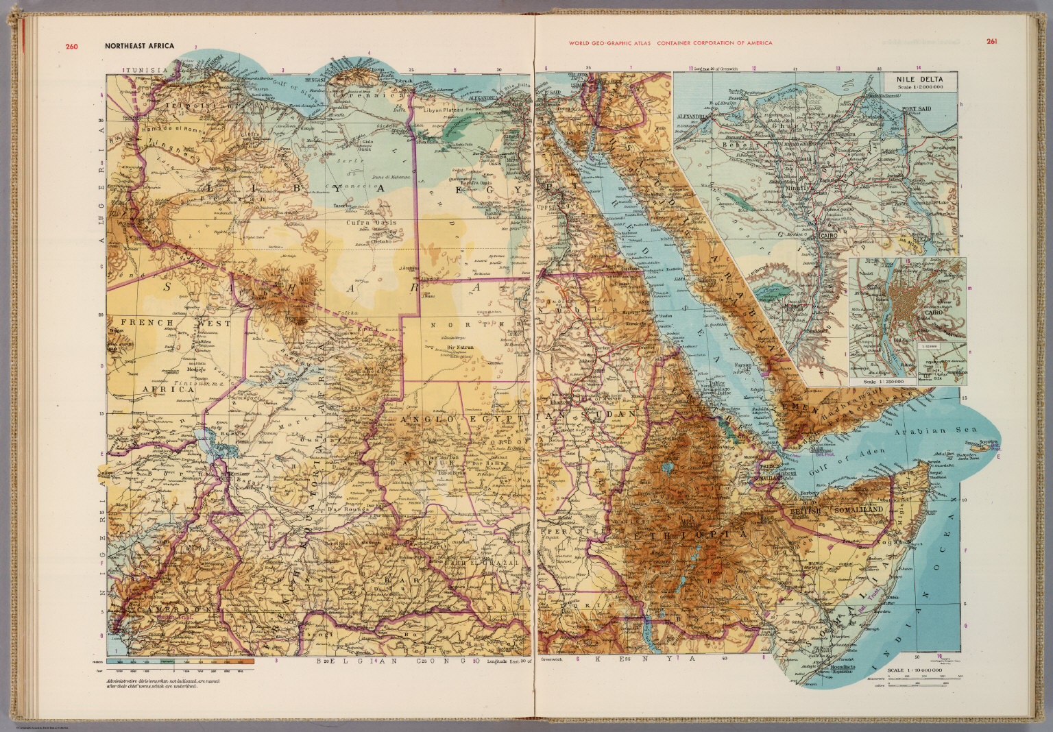 Northeast Africa.   David Rumsey Historical Map Collection
