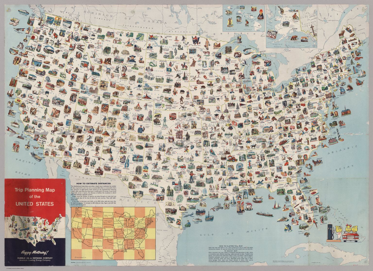 Trip Planning Map Of The United States David Rumsey Historical Map