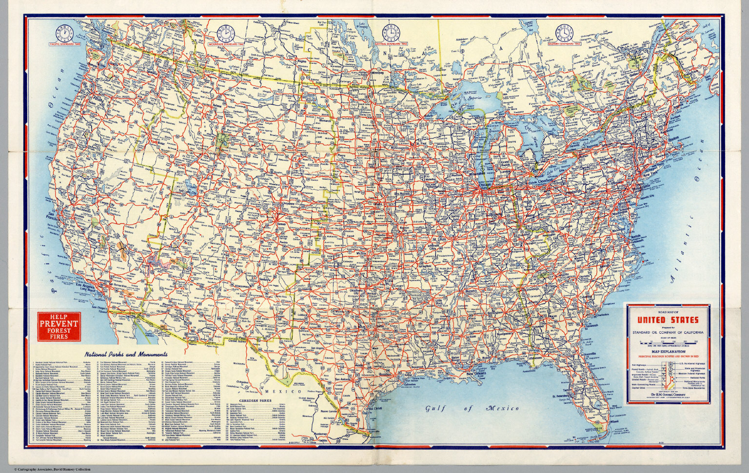 Road Map of United States David Rumsey Historical Map Collection