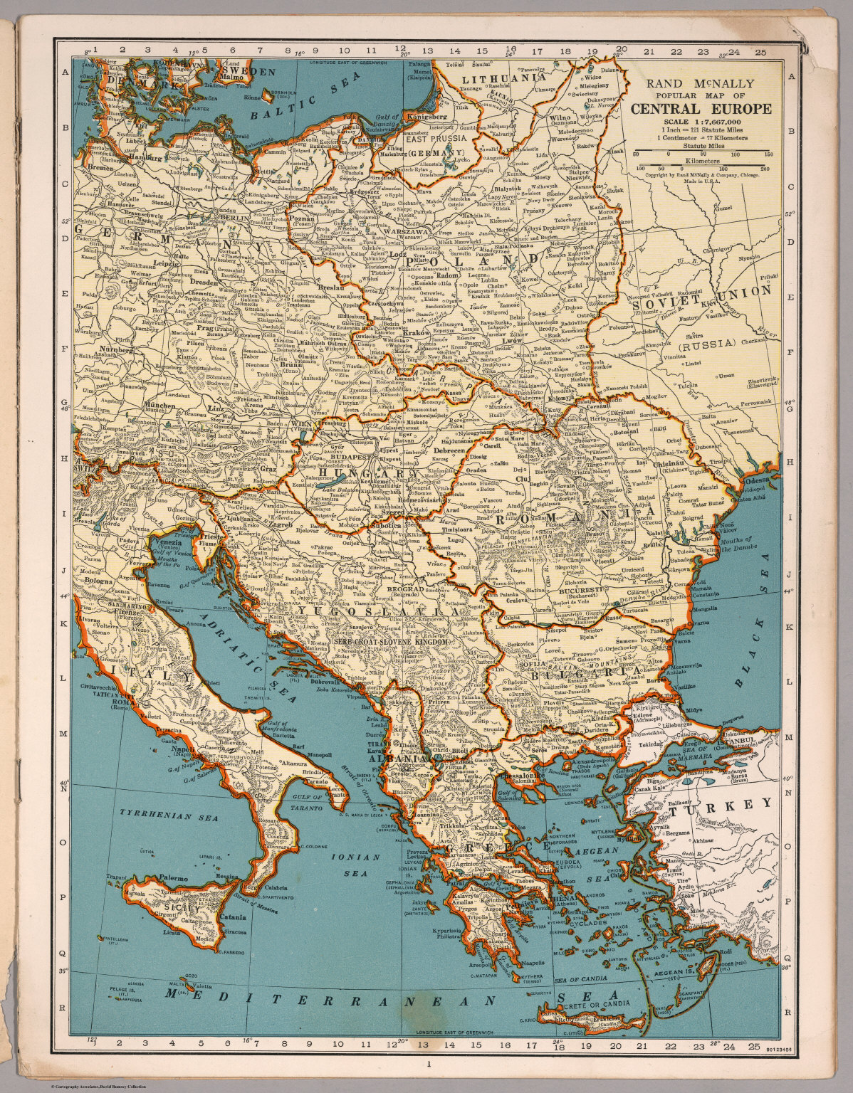 Rand McNally Por map of the Central Europe - David Rumsey ... on