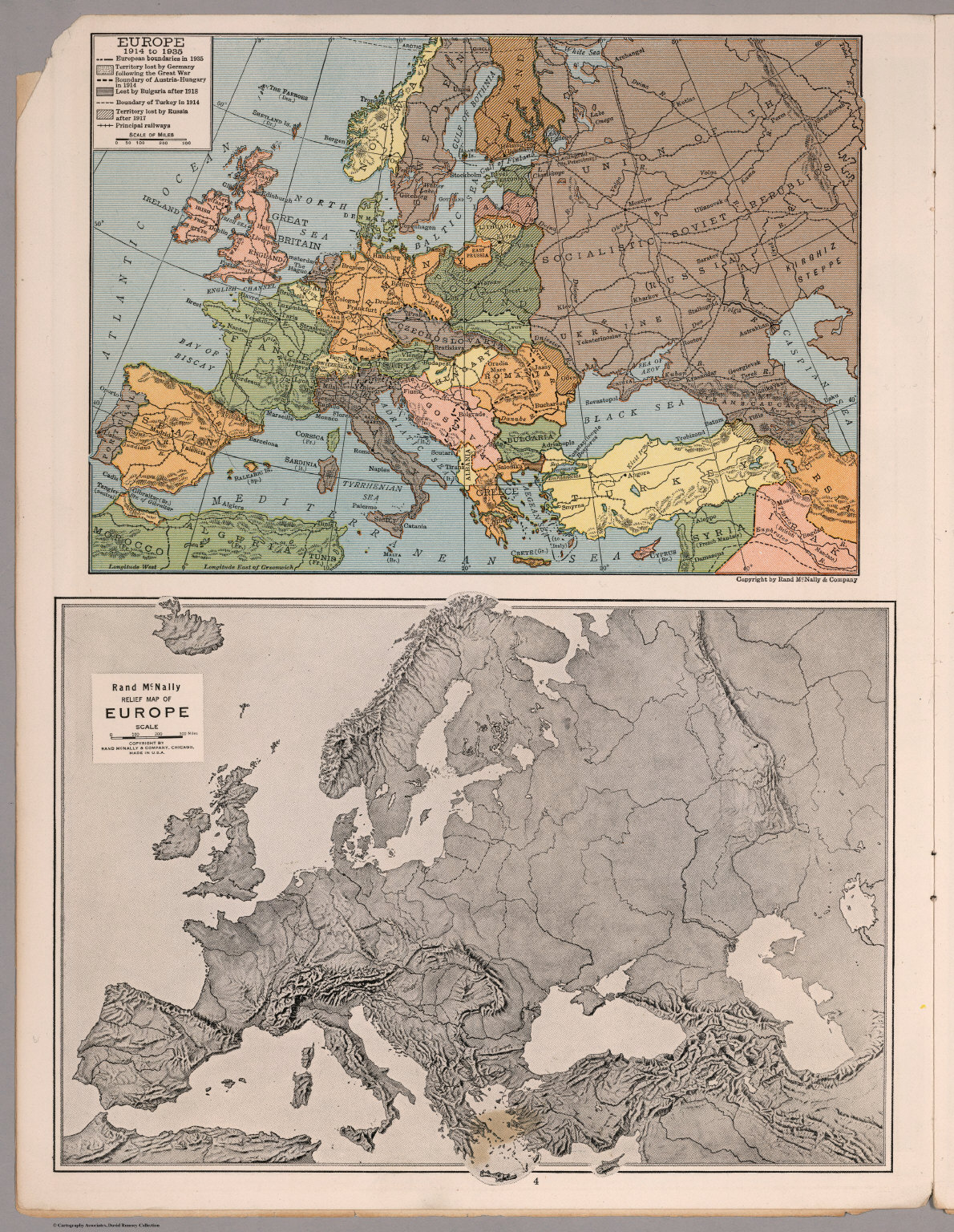 A Map Of Europe In 1914.Europe 1914 1935 Relief Map Of Europe David Rumsey Historical