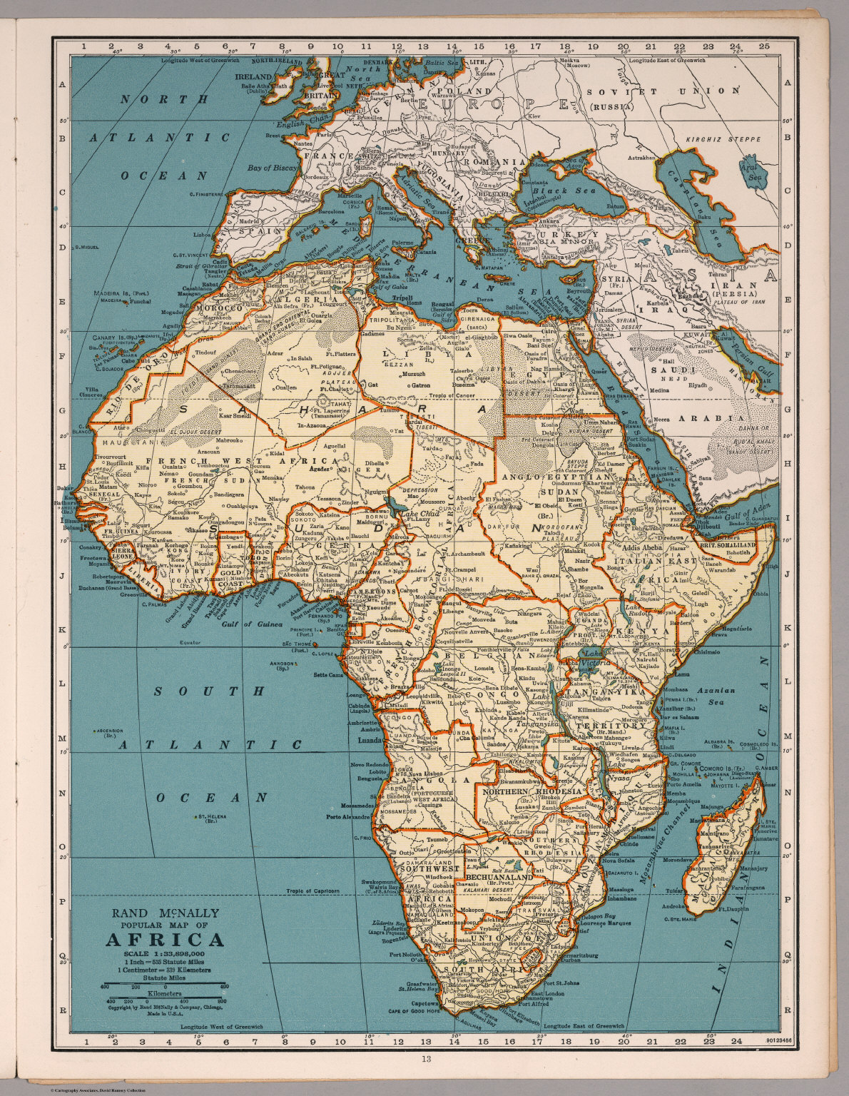 Rand mcnally popular map africa david rumsey historical map collection rand mcnally popular map africa gumiabroncs Choice Image