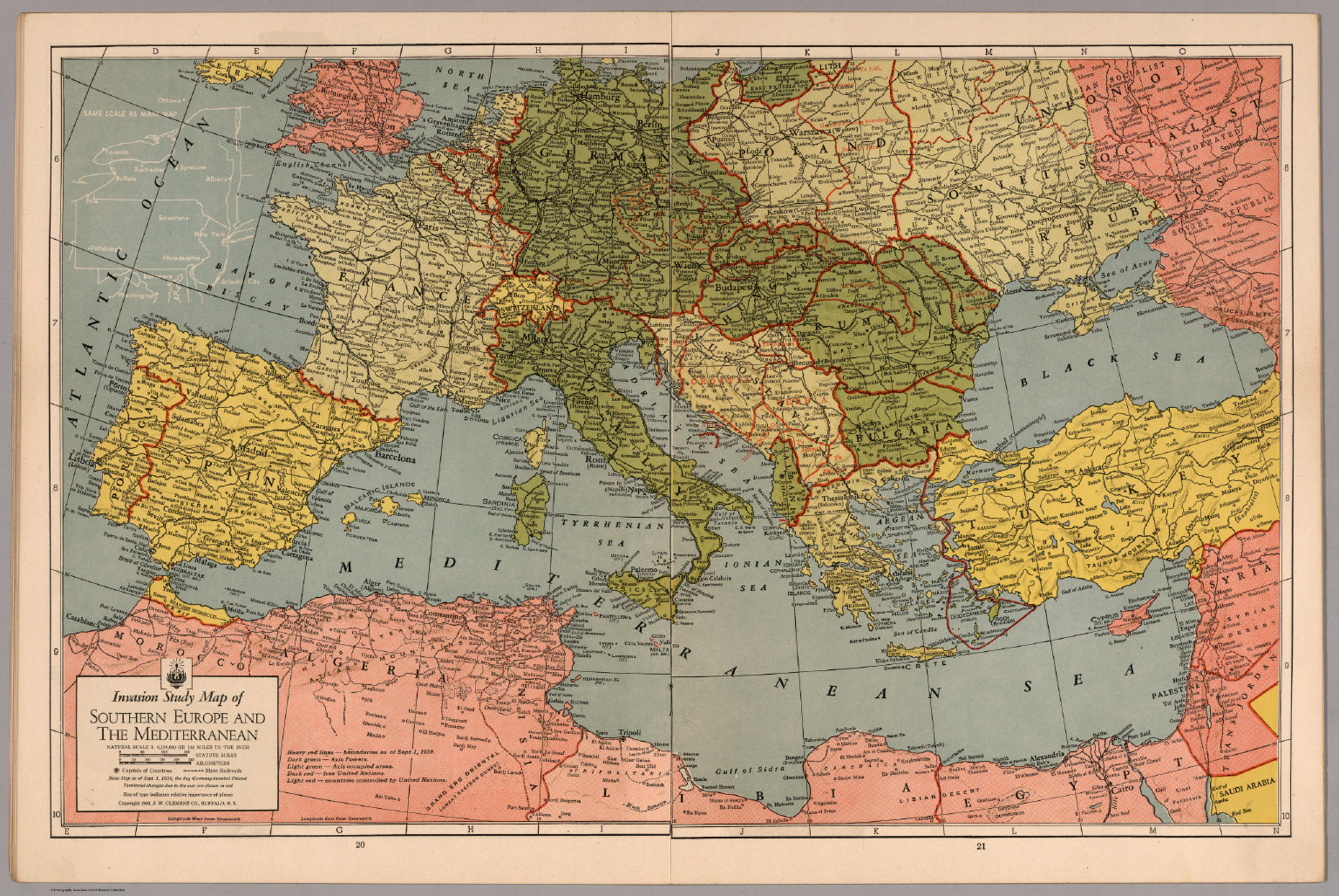Invasion Study map of Southern Europe and Mediterranean - David ...