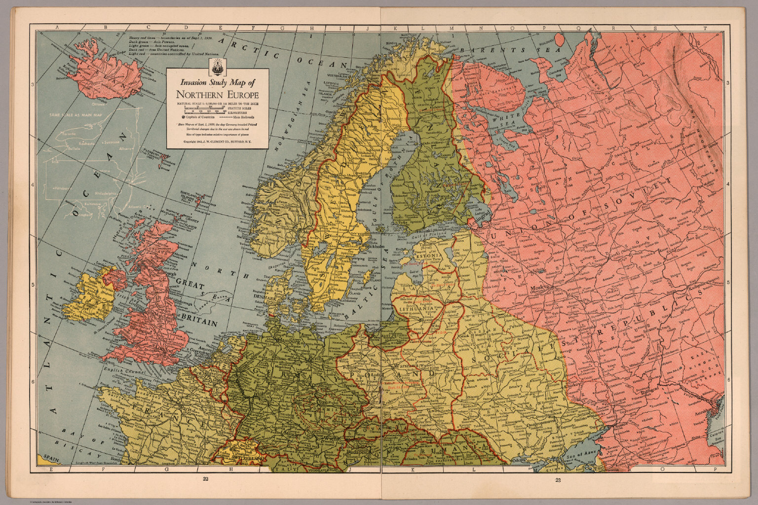 Invasion Study map of Northern Europe - David Rumsey Historical Map ...