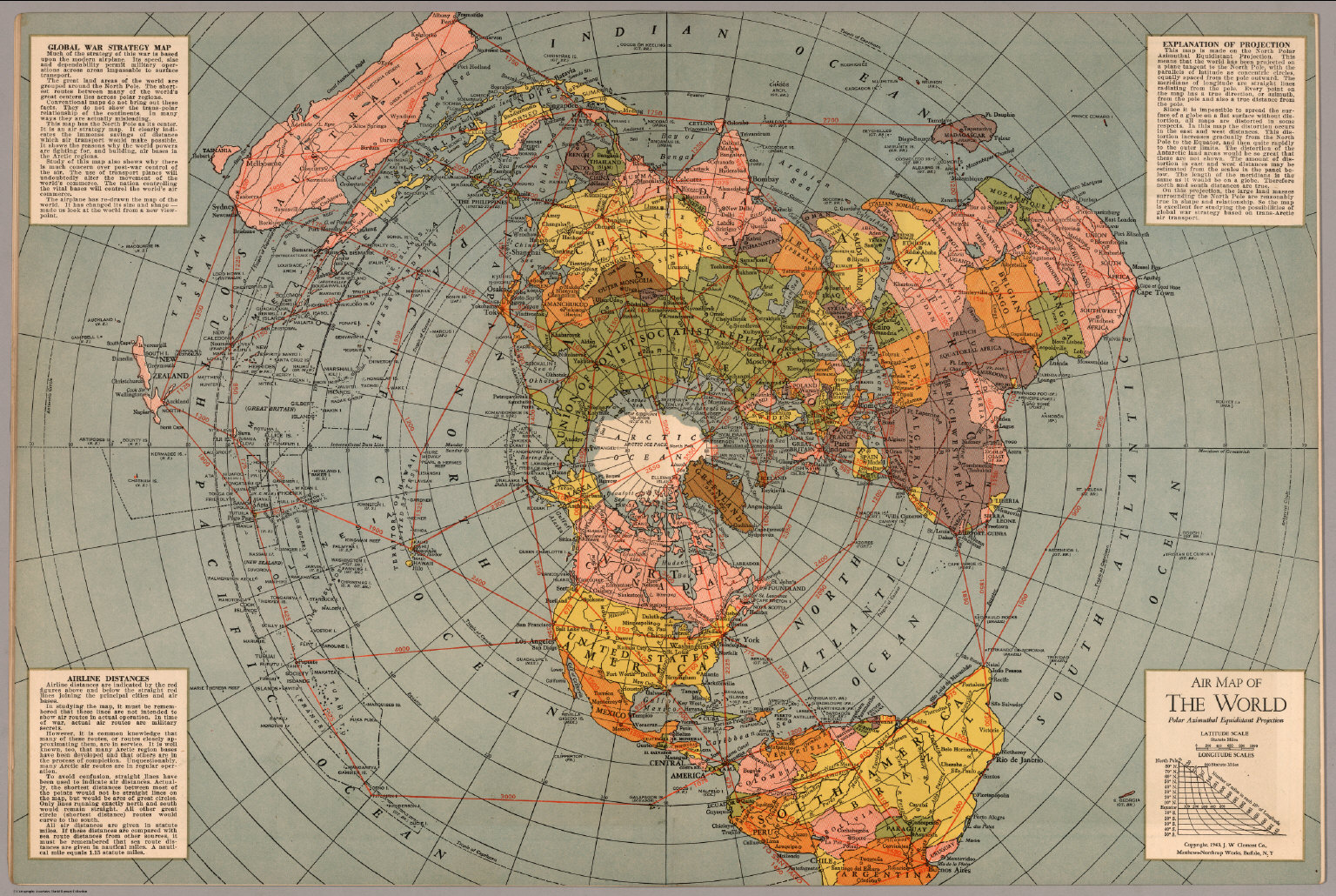 Map of the world polar azimuthal equidistant projection david map of the world polar azimuthal equidistant projection gumiabroncs Choice Image
