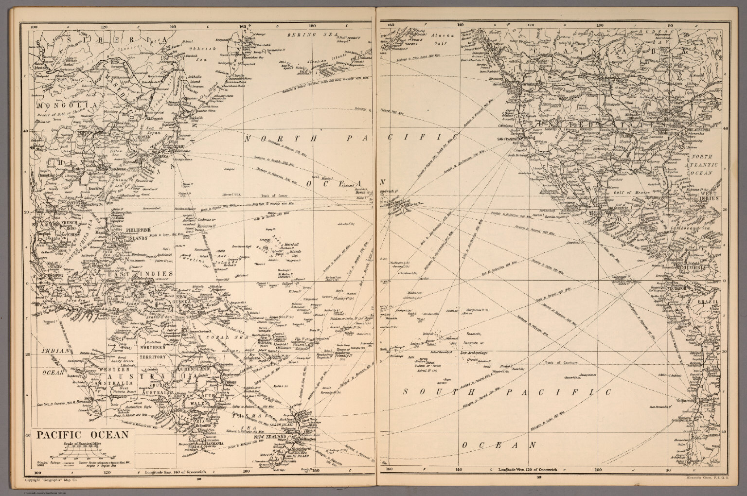 Pacific ocean david rumsey historical map collection view in georeferencer buy print export gumiabroncs Image collections