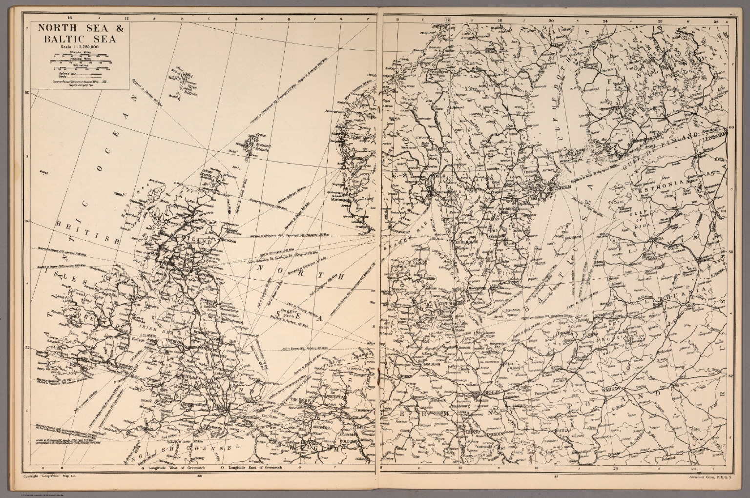 North Sea and Baltic Sea - David Rumsey Historical Map Collection