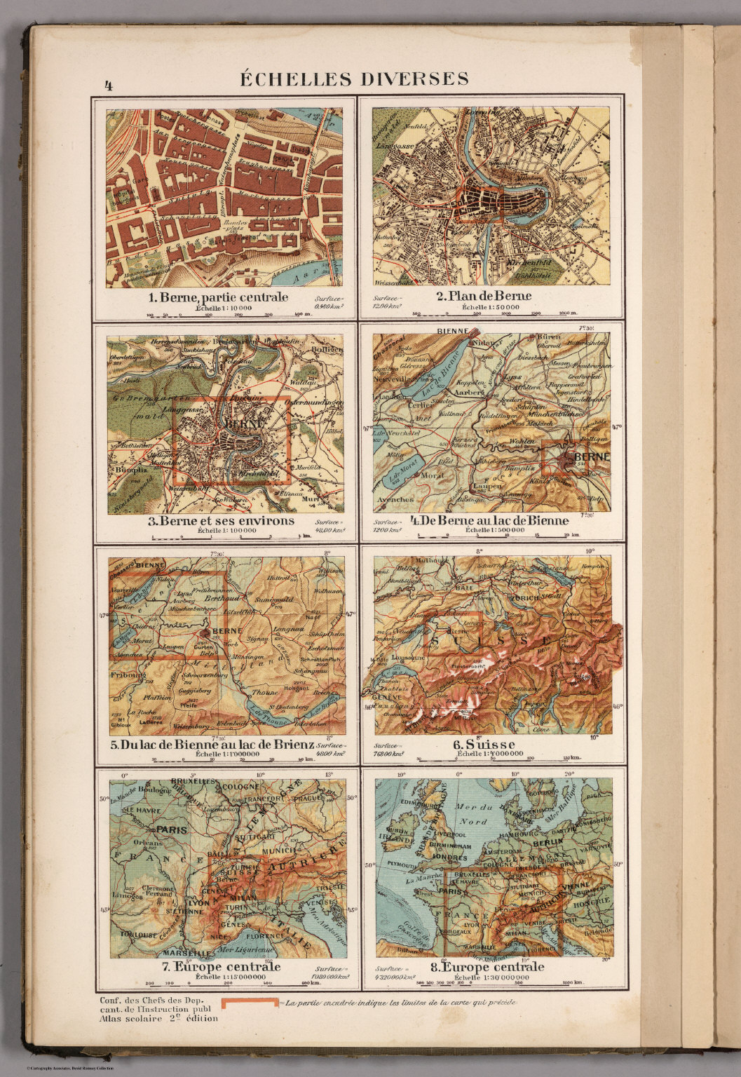 Echelles Diverses David Rumsey Historical Map Collection