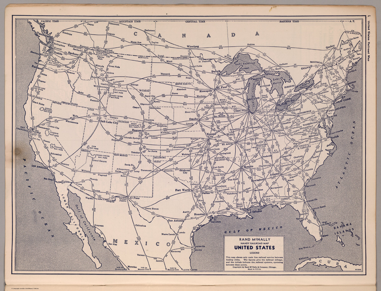 United States Railroad Map David Rumsey Historical Map Collection - Railroad Us Map