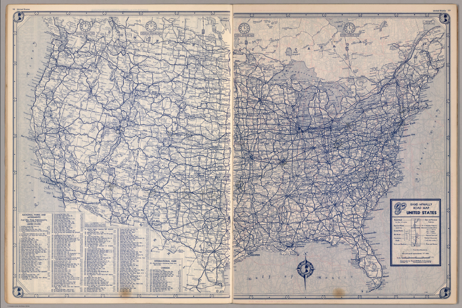 United States Road Map - David Rumsey Historical Map Collection