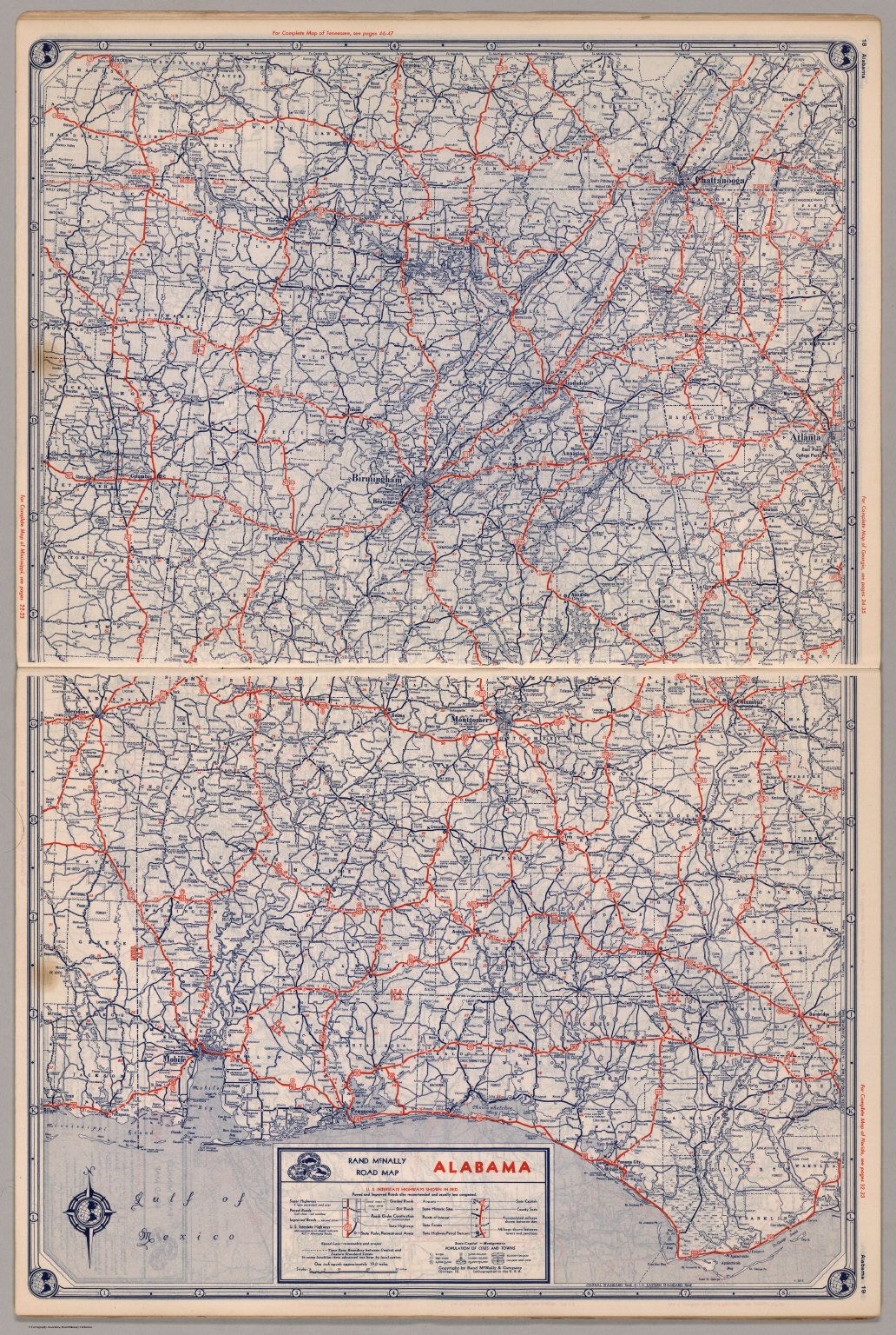 Road map of Alabama - David Rumsey Historical Map Collection Detailed Map Of Alabama on