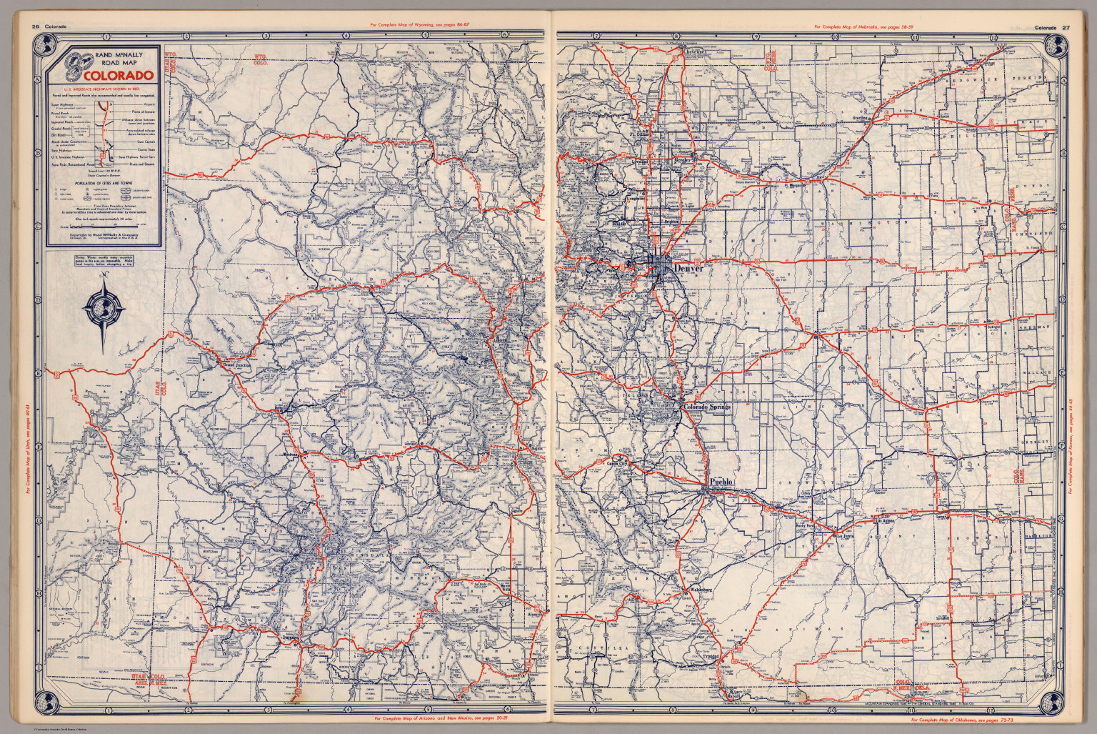 road map of colorado david rumsey historical map collection
