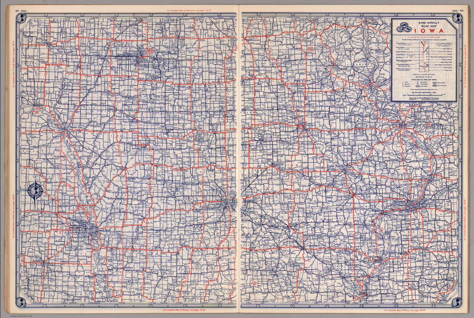 Road map of Iowa - David Rumsey Historical Map Collection Detailed Map Of Iowa on