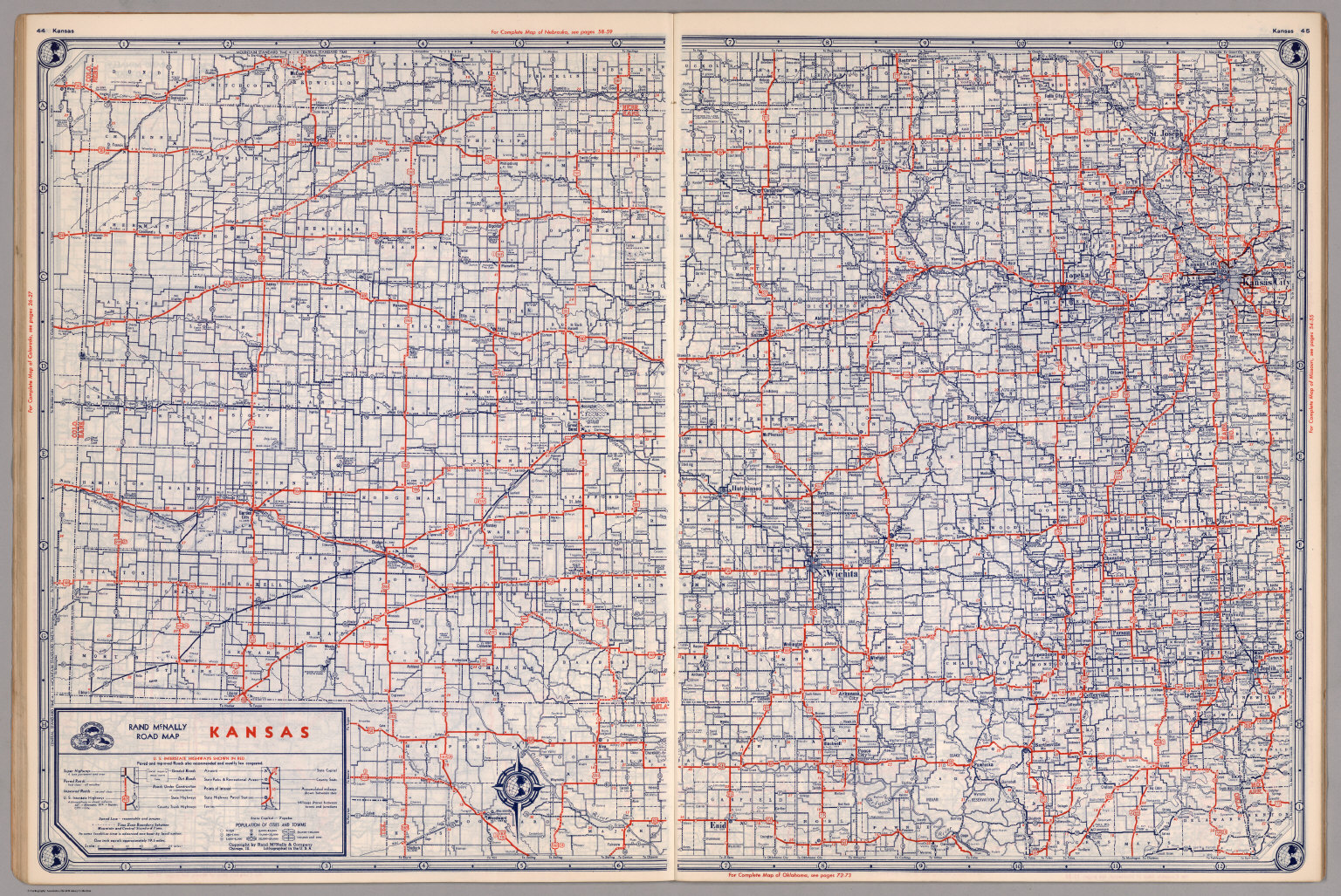 Road map of Kansas - David Rumsey Historical Map Collection Detailed Map Of Kansas on