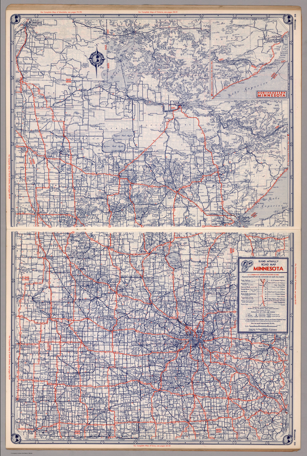 Road map of Minnesota - David Rumsey Historical Map Collection