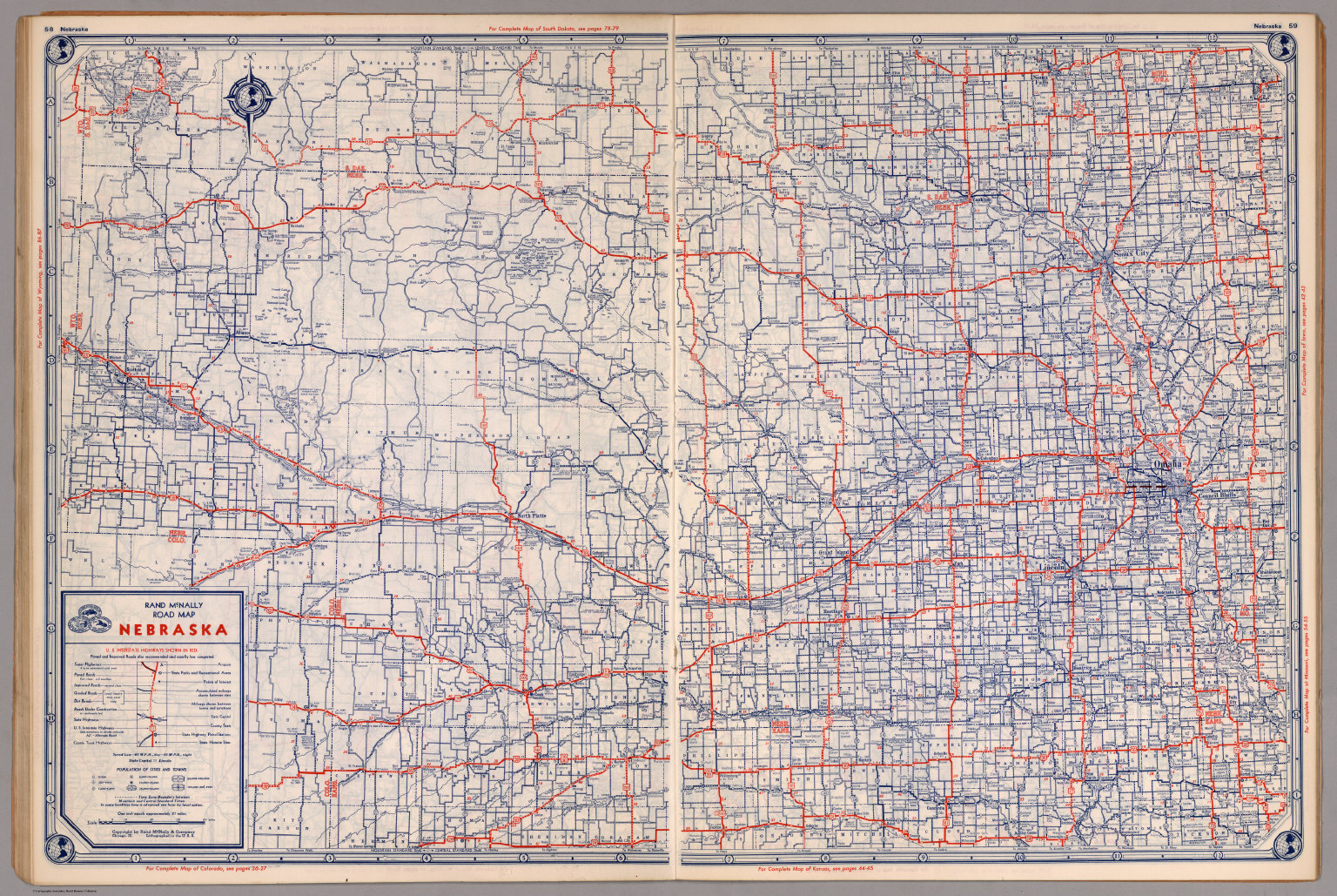 Road map of Nebraska David Rumsey Historical Map Collection