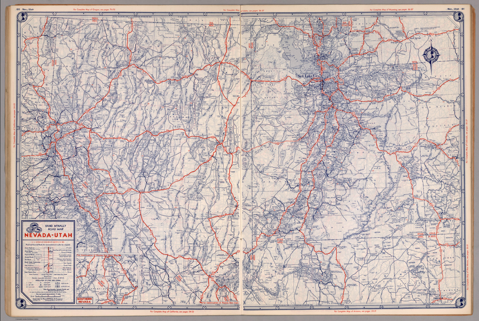 Road map of NevadaUtah David Rumsey Historical Map Collection