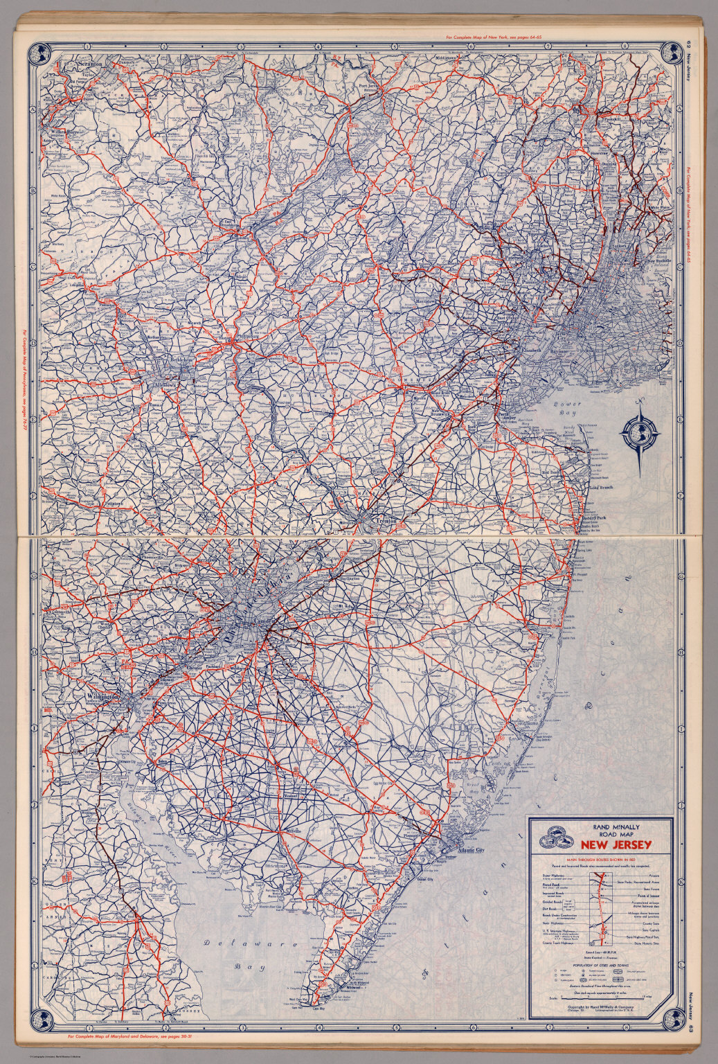 Road map of New Jersey - David Rumsey Historical Map Collection