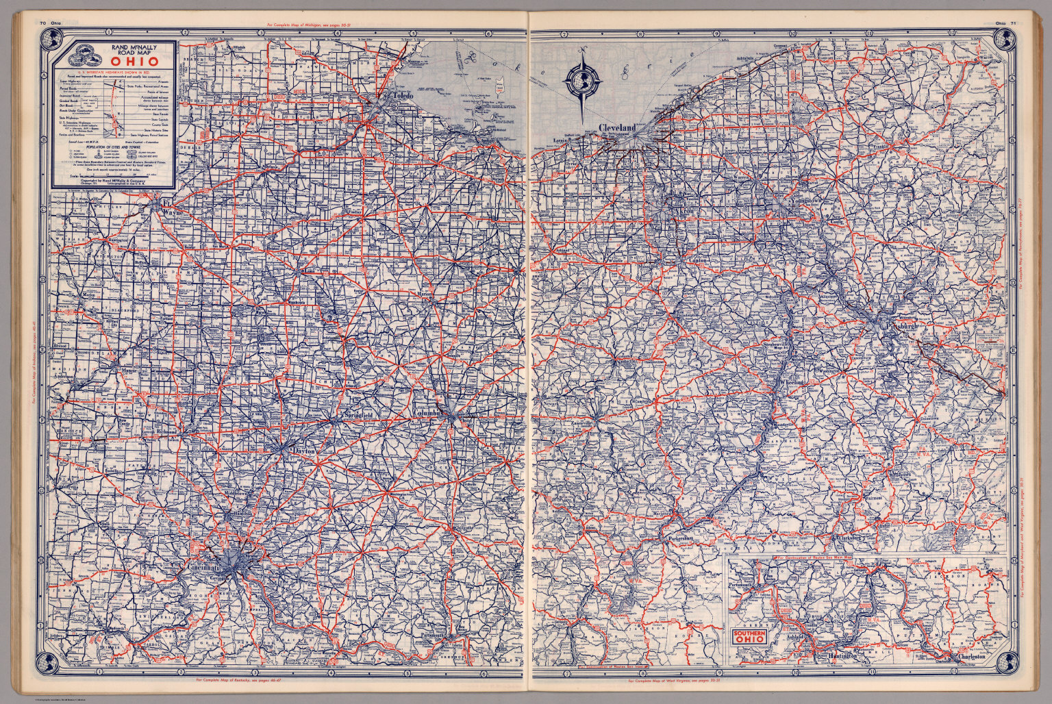 Road map of Ohio David Rumsey Historical Map Collection