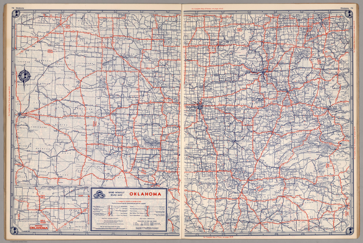 Road map of Oklahoma David Rumsey Historical Map Collection