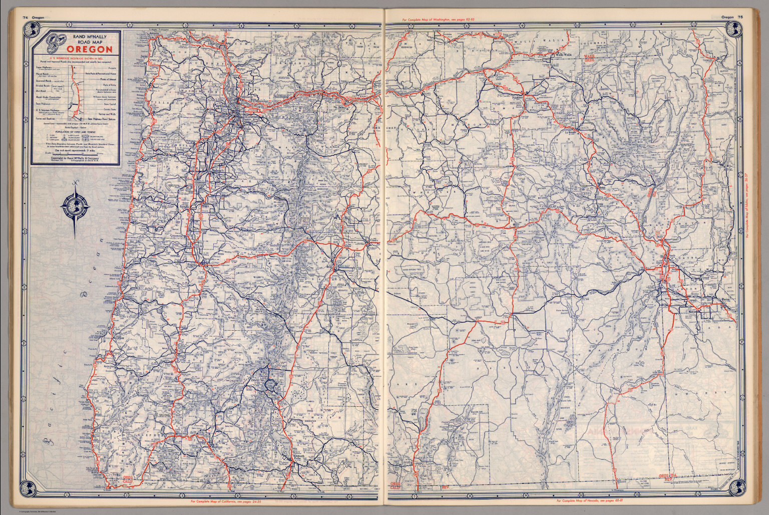 Road map of Oregon - David Rumsey Historical Map Collection Oregon Road Maps on