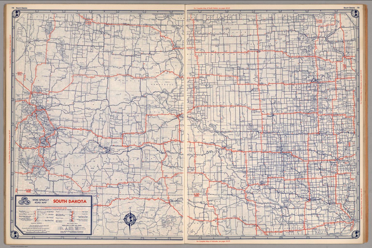 Road map of South Dakota - David Rumsey Historical Map Collection Road Map South Dakota on
