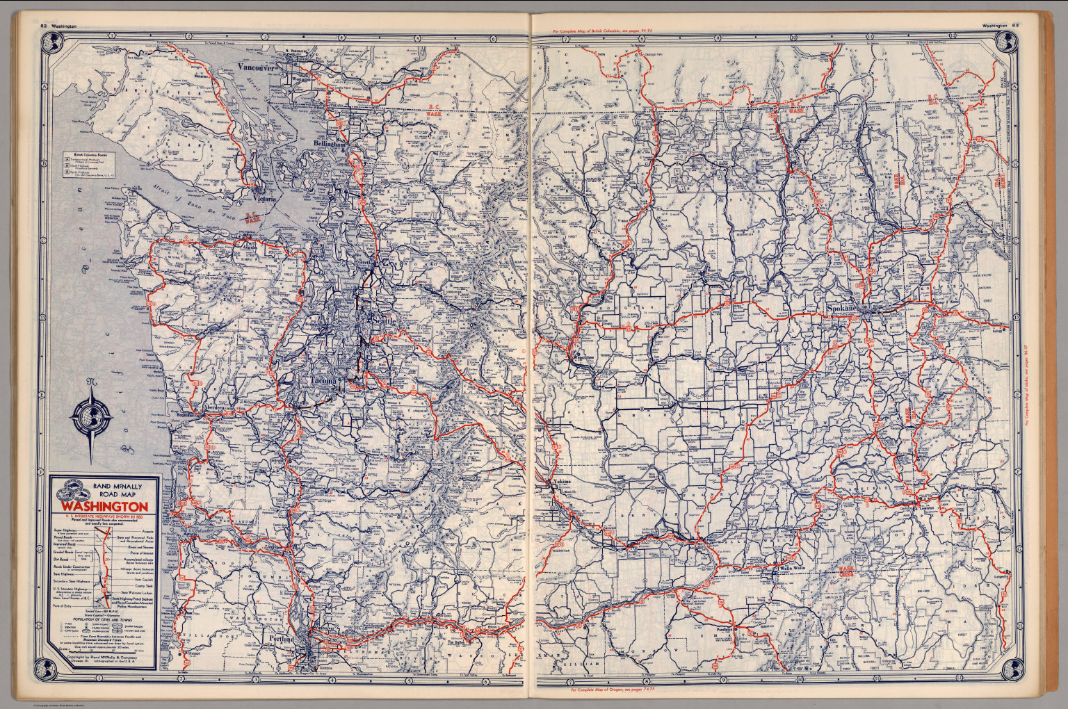 Road map of Washington David Rumsey Historical Map Collection