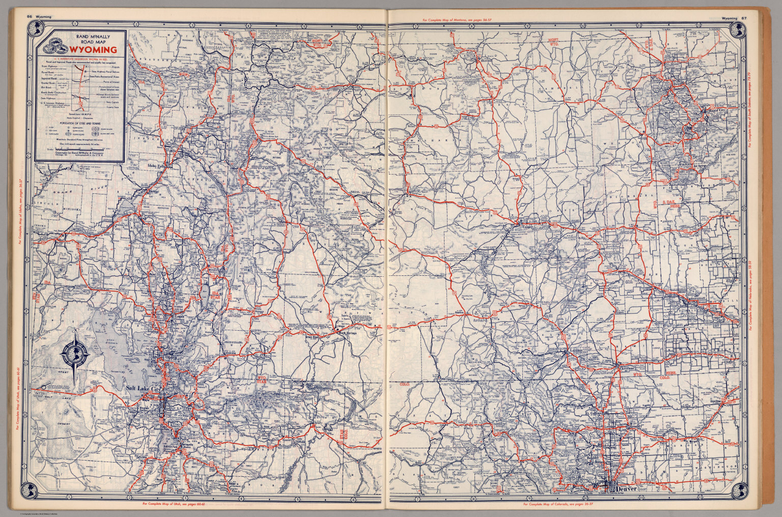 Road map of Wyoming - David Rumsey Historical Map Collection