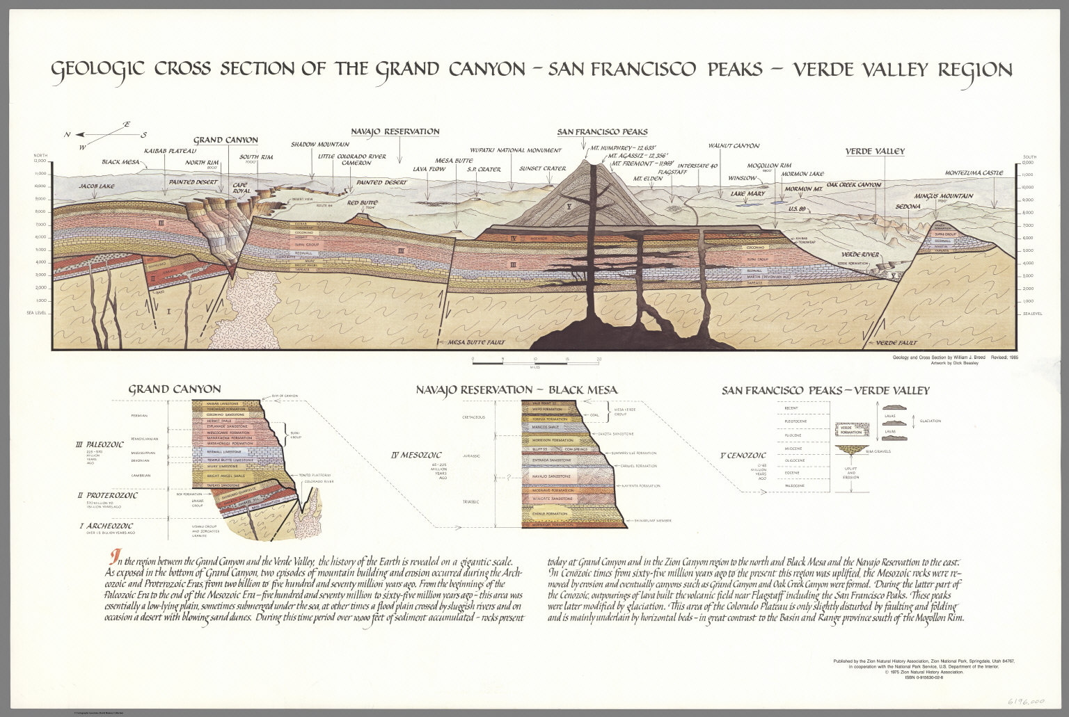 Geologic Cross Section of the Grand Canyon Region San Francisco