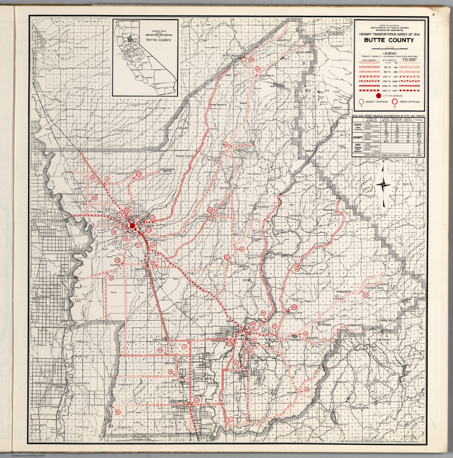 Butte County David Rumsey Historical Map Collection - Butte county map